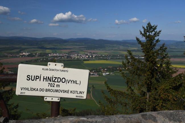 Geopark Broumovsko z ptačí perspektivy