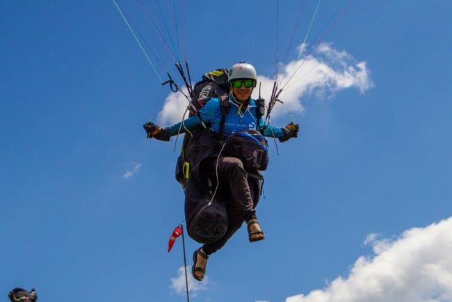 Paragliding na Broumovsku