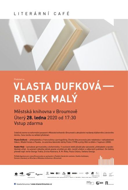 Literární Café přivítá držitele ceny Magnesia Litera Radka Malého a překladatelku Vlastu Dufkovou