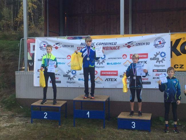 Lukáš Doležal z Borského klubu lyžařů Machov získal titul Mistra České republiky 2017 žactva v severské kombinaci