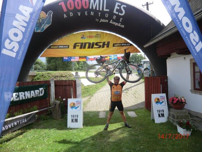 Starosta Šonova Vladimír Grusman podruhé absolvoval extrémní cyklistický non-stop ultra maraton Isoma 1000 miles Adventure 2017