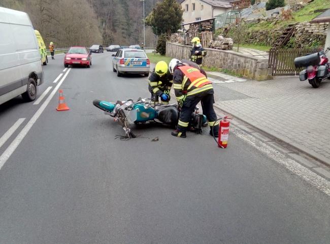 Dvě dopravní nehody na Broumovsku
