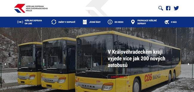 Nový web cestující provede veřejnou dopravu v kraji