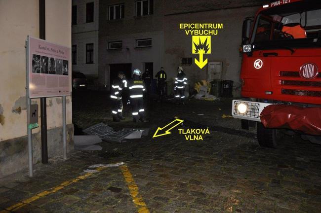 Výbuch v centru Broumova