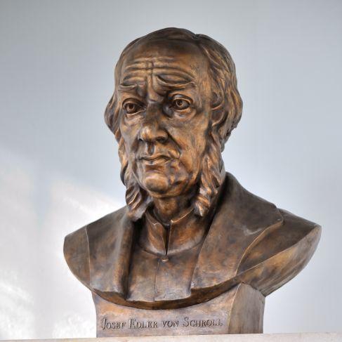Socha Josefa Schrolla slavnostně odhalena