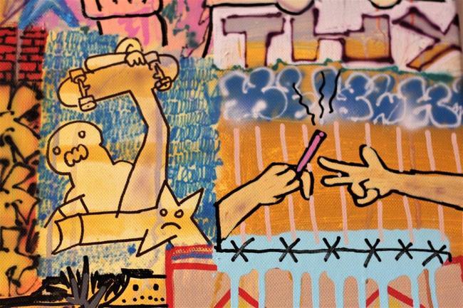 Runové písmo, městské šifry, drobnokresba, neony… Periferie Michala Škapy ožívá v Dětské galerii Lapidárium v Broumově