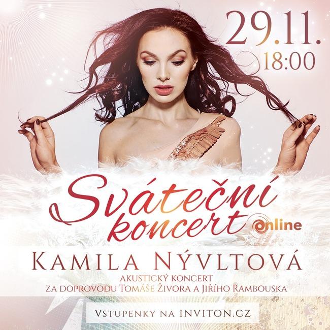 Zpěvačka Kamila Nývltová připravuje Sváteční koncert. Na kytaru ji doprovodí Jiří Rambousek