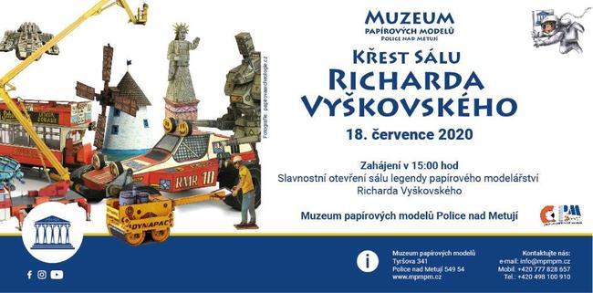 V Muzeu papírových modelů pokřtí sál Richarda Vyškovského